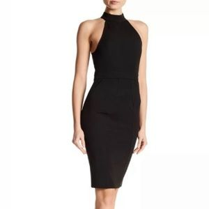 NWT ZAC POSEN Sleeveless Mock Neck Dress Black 2